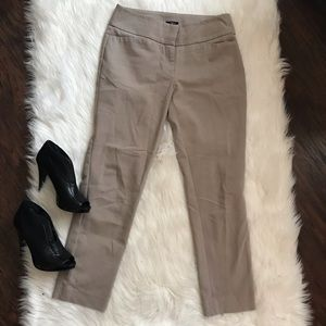 Loft Julie Straight Beige Pants